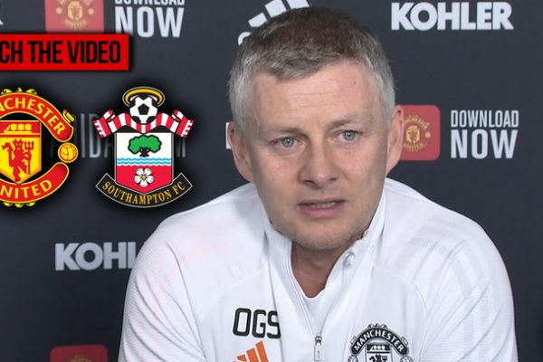 Ole updated the team before meetingSouthampton. Ole Gunnar Solskjaer, manager of Manchester United, said at the press conference before meetingSouthampton